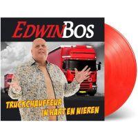 Edwin Bos - Truckchauffeur In Hart En Nieren + Wat Lijkt Ze Op Jou - (Rood) Vinyl