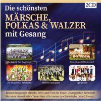 Die Schonsten Marsche, Polkas Und Walzer Mit Gesang - Folge 1 - 2CD