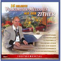 16 Beliebte Volksmusik-Melodien Auf Der Zither - CD