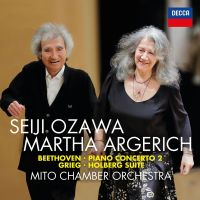 Seiji Ozawa & Martha Argerich - Beethoven: Piano Concerto No. 2; Grieg: Holberg Suite - CD