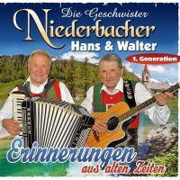 Die Geschwister Niederbacher Hans & Walter - Erinnerungen Aus Alten Zeiten - 2CD